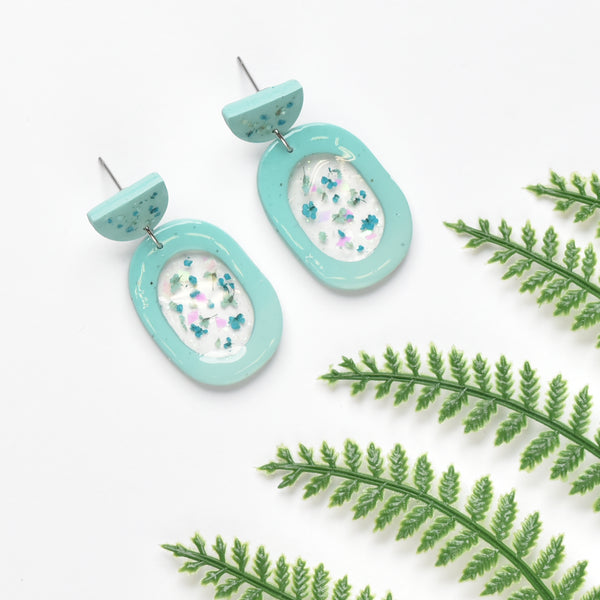 milki.sg Eternal Bloom Teal Dangles (Eggie)