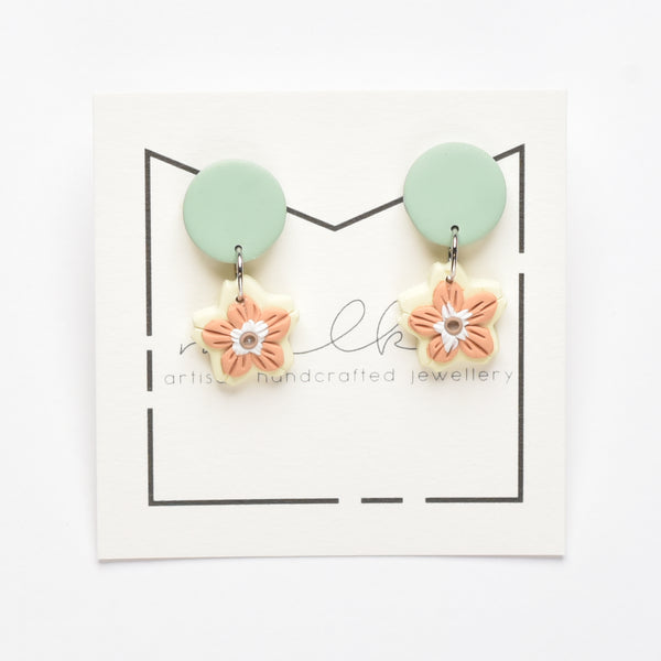 milki.sg Madeleine Green & Yellow Dangles (Drop)