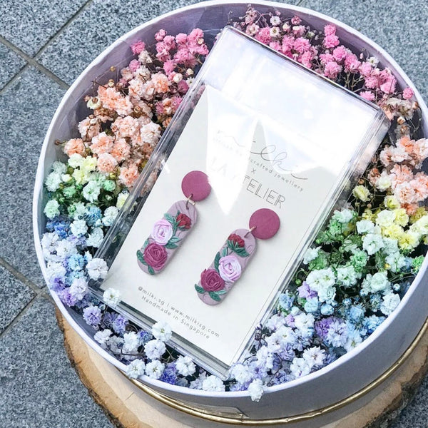 milki.sg Rainbow Fleur Gifts in Box — Love Sirens Dangles (Vel)