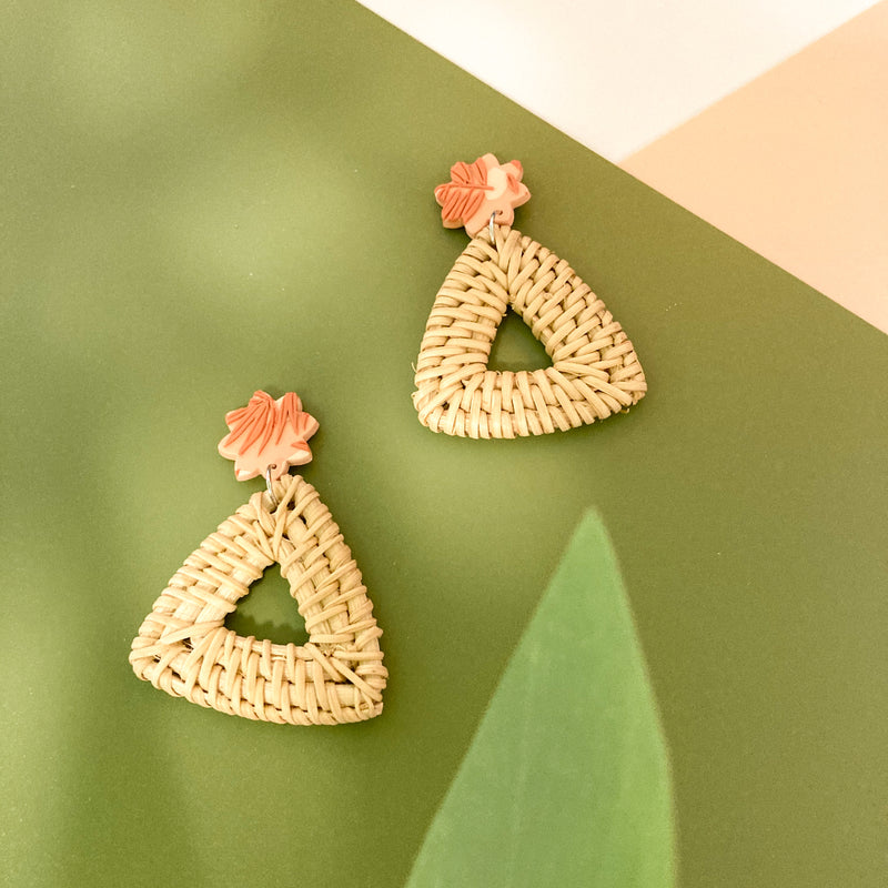 Autumn Rust Dangles (Tri-Rattan)