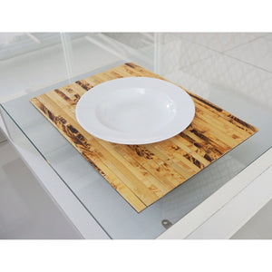 Natural Bamboo Wood Wide Placemats (Set of 2) - Meraki Cole Company