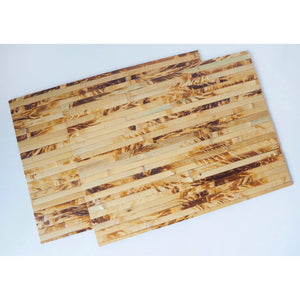 Natural Bamboo Wood Wide Placemats (Set of 2) - Color - Natural Light - Meraki Cole Company