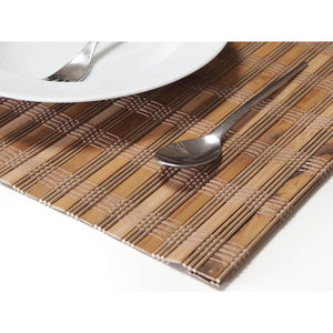 Handmade Wide Bamboo Placemats (Set of 4) - Color Mix Brown - Meraki Cole Company