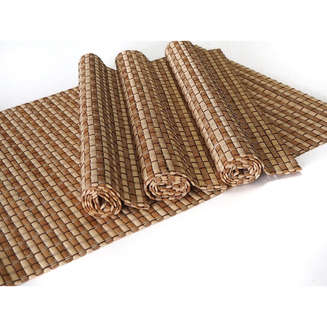 Handmade Bamboo Placemats Natural/Medium (Set of 4) - Meraki Cole Company