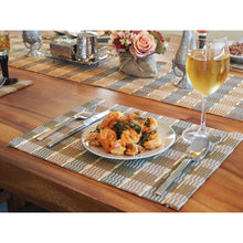 Load image into Gallery viewer, Handmade Bamboo Placemats Natural/Gray (Set of 4) - Meraki Cole Company
