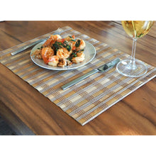 Load image into Gallery viewer, Handmade Wide Mix Brown Bamboo Placemats (Set of 4) - Meraki Cole Company