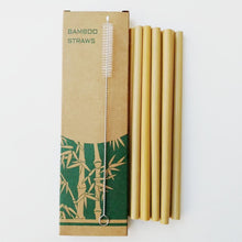 Load image into Gallery viewer, Eco-Friendly Bamboo Reusable Drinking Straws (300 Pieces) - Meraki Cole Company