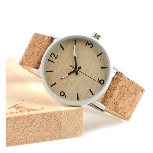 Natural Bamboo Wooden Cork Watch - Meraki Cole Company