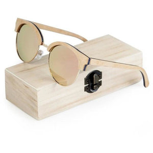 Cat Eye Bamboo Frame Sunglasses - Meraki Cole Company
