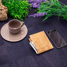 Load image into Gallery viewer, Natural Bifold Slim Cork Wallet for Men