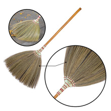 Load image into Gallery viewer, Asian Flower Broom Thai Traditional Grass Broom 40 Inch Length - Product Closeup View - Meraki Cole Company