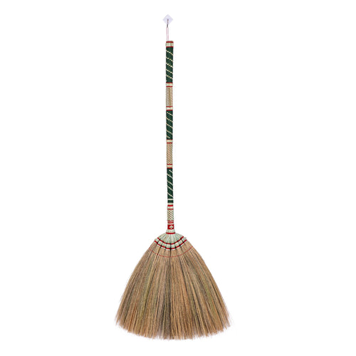 Thailand Bamboo Woven Handle Grass Broom 40 Inch Length - Meraki Cole Company
