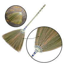 Load image into Gallery viewer, Traditional Thailand Grass Broom with Woven Bamboo Handle 40 Inch Length - Broom Close Up Product View - Meraki Cole Company