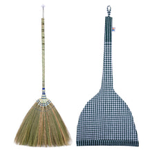 Load image into Gallery viewer, Traditional Thailand Grass Broom with Woven Bamboo Handle 40 Inch Length with Linen Storage Bag - Meraki Cole Company
