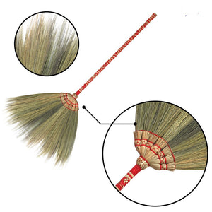 "40"" Natural Colorful Bamboo Woven Grass Sweeper Broom - Meraki Cole Company"