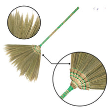 "Load image into Gallery viewer, 40"" Natural Colorful Bamboo Woven Grass Sweeper Broom - Meraki Cole Company"