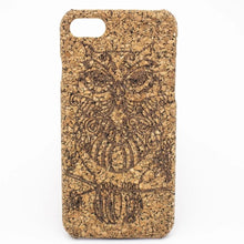 Load image into Gallery viewer, Natural Cork iPhone 7/8 Case - Owl - Meraki Cole Company