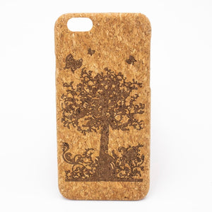Natural Cork iPhone 7/8 Case - Tree Butterflies - Meraki Cole Company