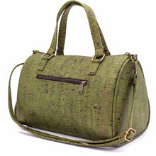 Load image into Gallery viewer, Cork Duffle Overnight Bag - Backside View - Meraki Cole Company