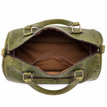Load image into Gallery viewer, Cork Duffle Overnight Bag - View of Inside Pocket - Meraki Cole Company