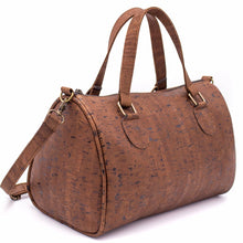 Load image into Gallery viewer, Cork Duffle Overnight Bag - Front View - Meraki Cole Company