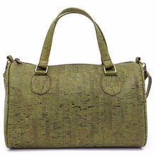 Load image into Gallery viewer, Cork Duffle Overnight Bag - Color Green - Meraki Cole Company