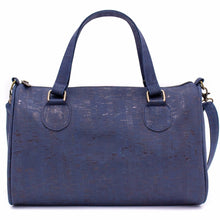 Load image into Gallery viewer, Cork Duffle Overnight Bag - Color Blue - Meraki Cole Company
