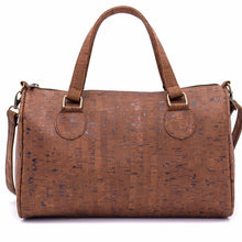 Load image into Gallery viewer, Cork Duffle Overnight Bag - Color Brown - Meraki Cole Company