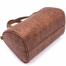 Load image into Gallery viewer, Cork Duffle Overnight Bag - Bottom View -  Meraki Cole Company
