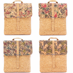 Cork Laptop Backpack Patterned Briefcase