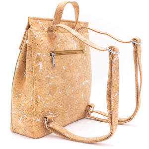 100% Natural Cork Backpack - Backside View - Meraki Cole Company