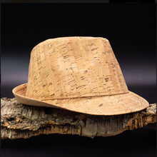 Load image into Gallery viewer, Natural Cork Fedora Hat