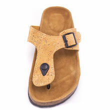 Load image into Gallery viewer, Natural Cork Sandal - Top View - Meraki Cole Company