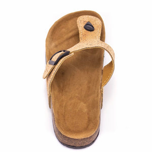 Natural Cork Sandal - Top View - Meraki Cole Company