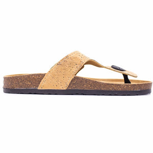 Natural Cork Sandal - Side View - Meraki Cole Company