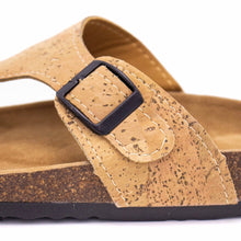 Load image into Gallery viewer, Natural Cork Sandal - Close Up View of Pattern - Meraki Cole Company
