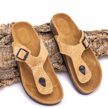 Load image into Gallery viewer, Natural Cork Sandal - Meraki Cole Company