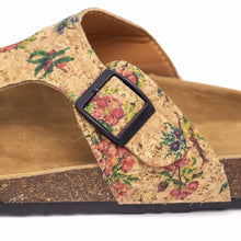 Load image into Gallery viewer, Natural Cork Flower Pattern Sandal - Pattern View - Meraki Cole Company