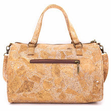 Load image into Gallery viewer, Natural Cork Duffle Overnight Bag - Backside View - Meraki Cole Company