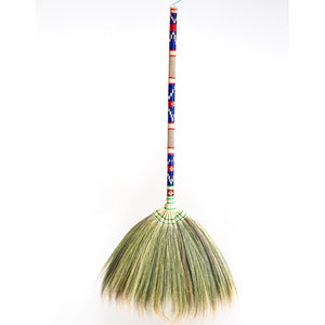 Custom Embroidered Grass Broom 40 Inch Length