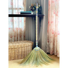 Load image into Gallery viewer, 2 Piece Adjustable Broom Asian Handmade Natural Grass Broom with Bamboo Handle 26 or 40 Inch Length - Meraki Cole Company