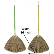 Load image into Gallery viewer, Thai Pattern Broom Authentic Asian Natural Grass Broom 40 Inch Length - Product Width - Meraki Cole Company