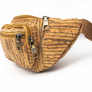 Rustic Striped Cork Fanny Pack - Meraki Cole Company