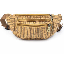 Load image into Gallery viewer, Rustic Striped Cork Fanny Pack - Meraki Cole Company