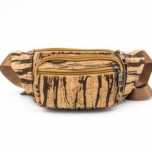 Load image into Gallery viewer, Striped Cork Fanny Pack - Meraki Cole Company