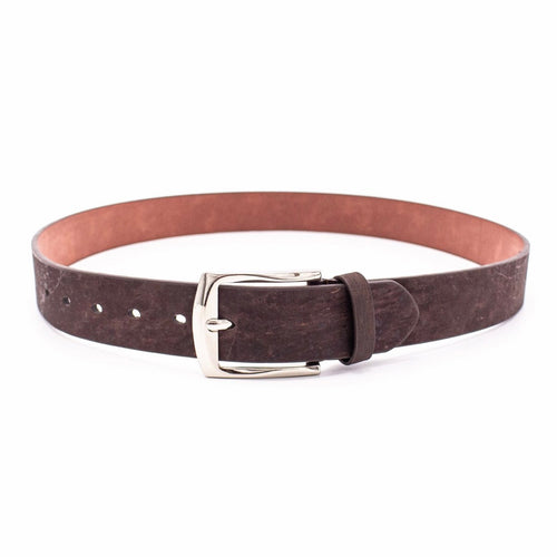 Brown Natural Cork Leather Belt for Men - Meraki Cole Company