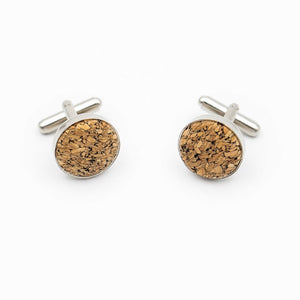 Natural Cork Cufflinks for Men - Meraki Cole Company