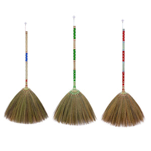 Asian Flower Broom Thai Traditional Grass Broom 40 Inch Length - Meraki Cole Company