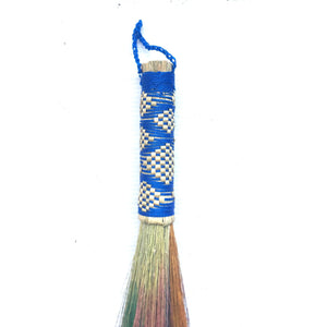 "13.25"" Handmade Embroidered Dusting Grass Brush"
