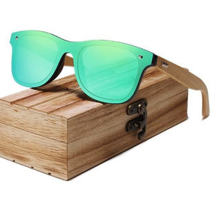 Retro Polarized Bamboo Sunglasses - Meraki Cole Company
